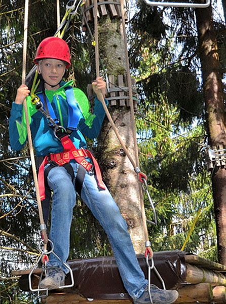 Ropes course in Pfronten-Kappel nearby Fussen