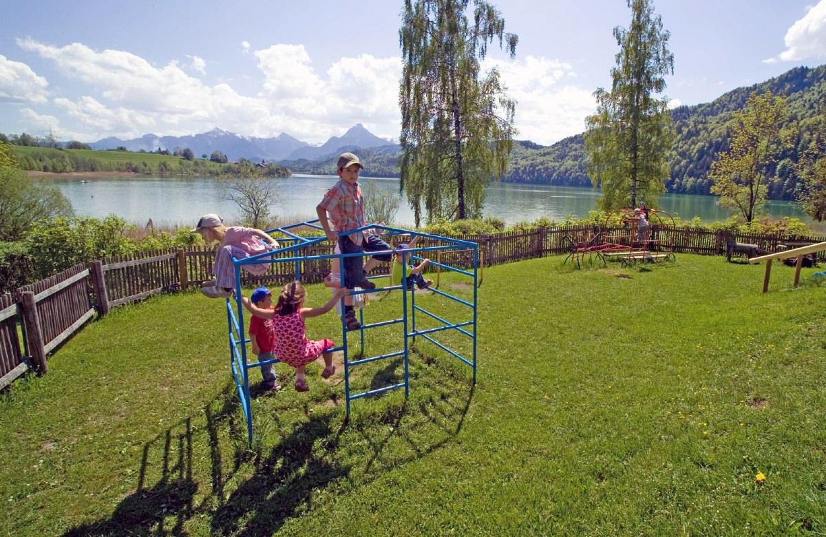 Kinderspielplatz im Aparthotel Seespitz