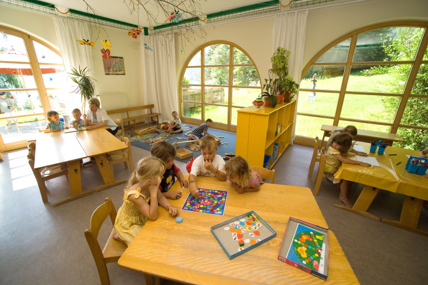 our in-house kindergarten at Aparthotel Seespitz in Füssen