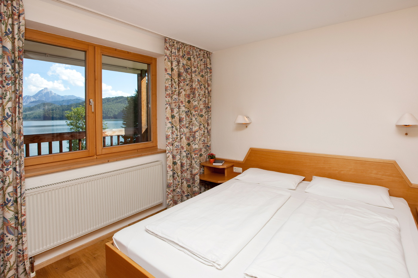 Küche im Einzimmer-Appartement im Appartementhotel Seespitz in Füssen