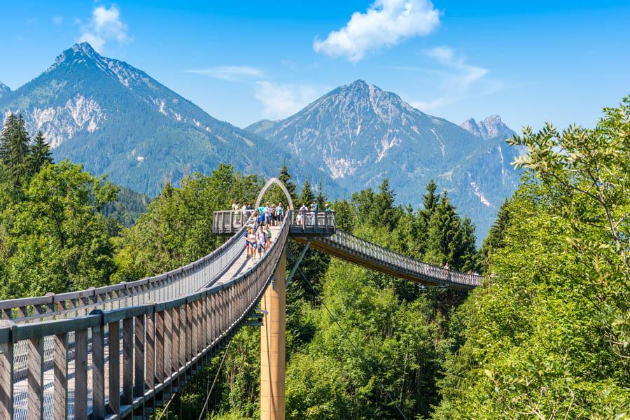 Baumkronenweg im Walderlebniszentrum in Füssen