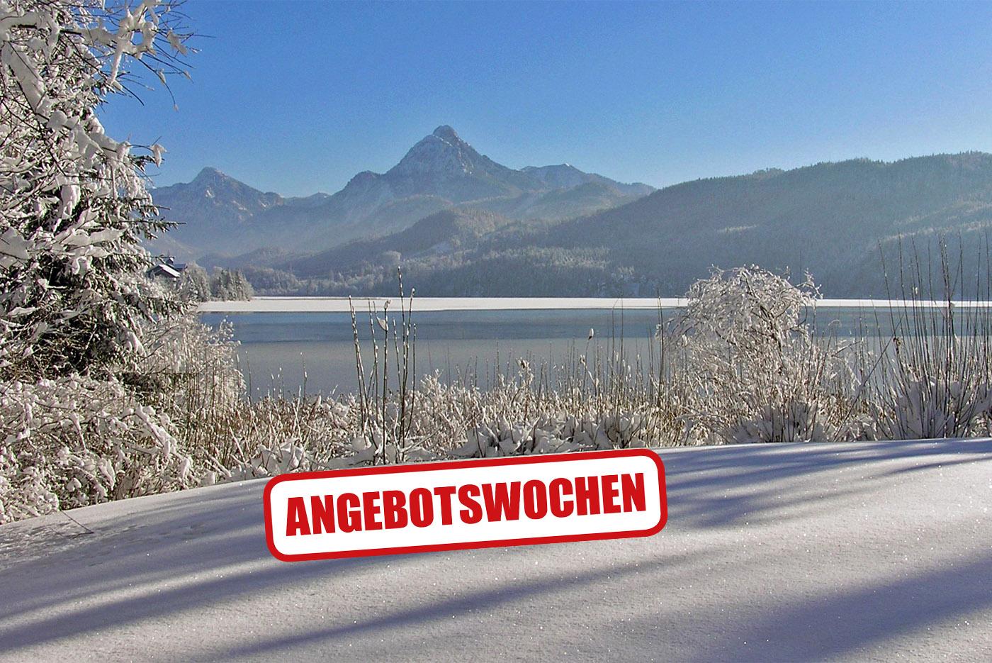 Winter im Appartementhotel Seespitz in Füssen-Weißensee im Allgäu