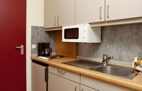 Küche in 1-Zimmer-Appartement